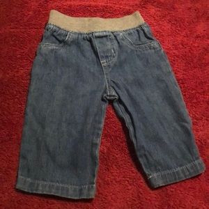 Denim with gray cotton elastic band